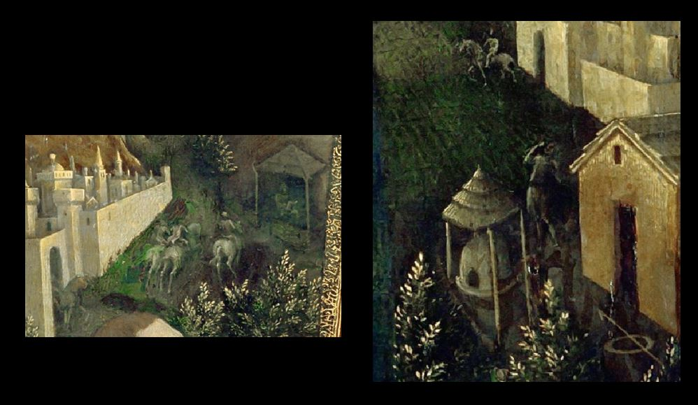 1440 Jacopo Bellini Vierge d'humilite adoree par un prince de la maison d'Este Louvre details