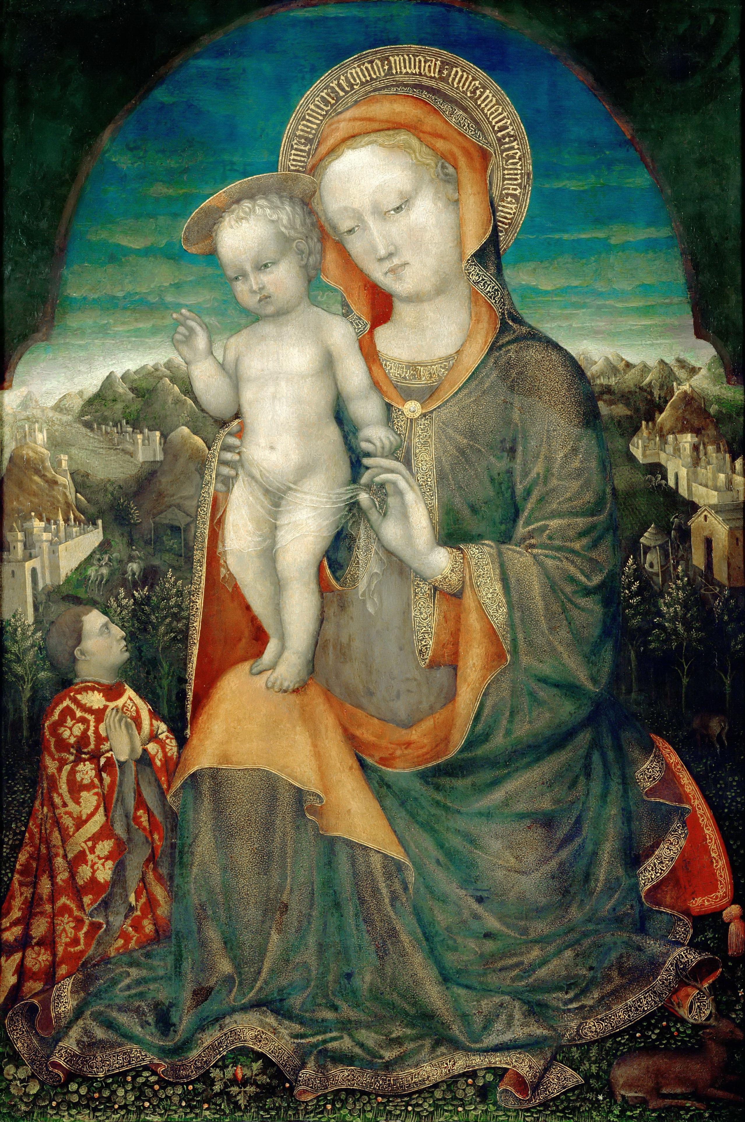 1440-Jacopo-Bellini-Vierge-dhumilite-adoree-par-un-prince-de-la-maison-dEste-Louvre