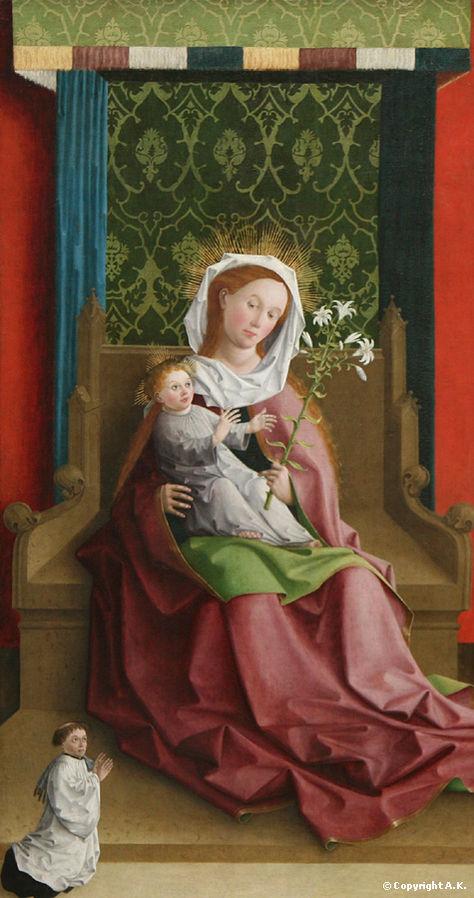 1440 Meister der Darmstadter PassionVierge_à_l'Enfant Berlin Gemaldegalerie