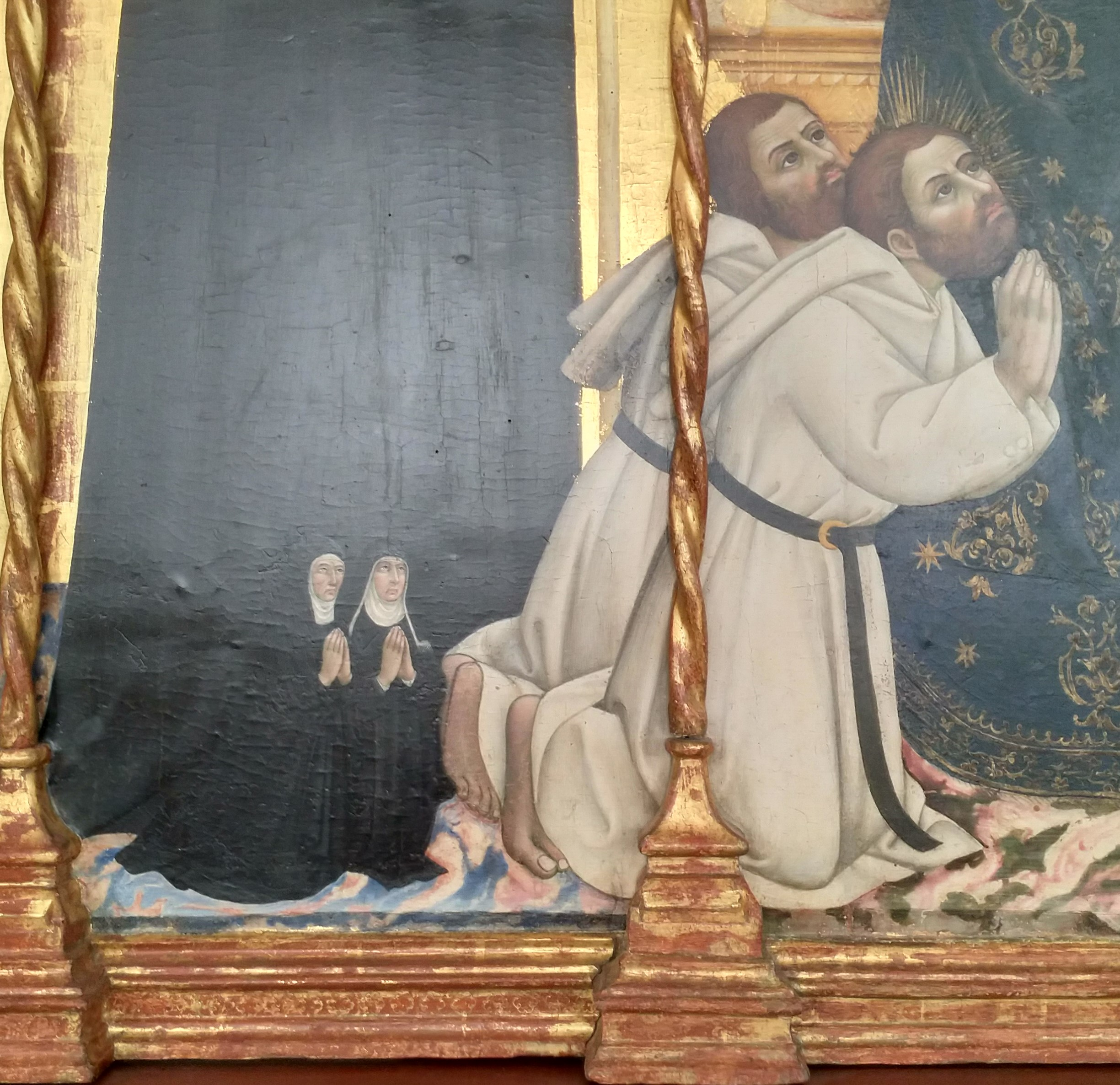1440 Sano di Pietro Triitico di santa bonda tra angeli e donatori, Pinacoteca Nazionale, Siena detail1