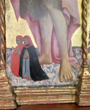 1440 Sano di Pietro Triitico di santa bonda tra angeli e donatori, Pinacoteca Nazionale, Siena detail2