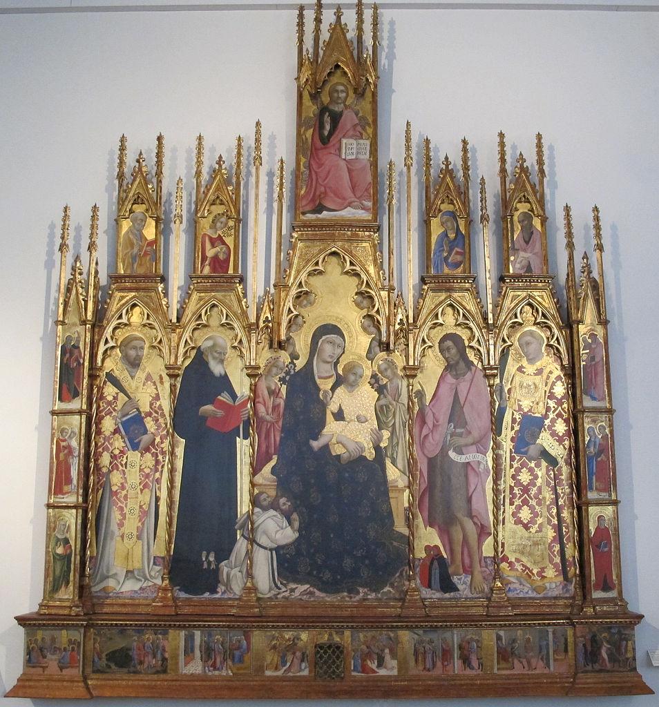 1440 Sano di Pietro Triitico di santa bonda tra angeli e donatori, Pinacoteca Nazionale, Siena