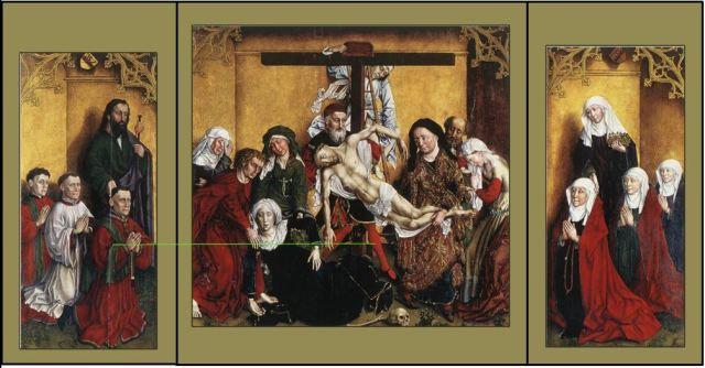 1443 Anonyme Edelheere Altarpiece Sint-Pieterskerk, Leuven reconstruction