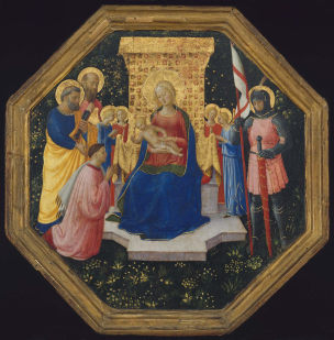 1446–49 Fra Angelico Saints Peter, Paul and George , Four Angels, and an unknown Donor Museum of Fine Arts, Boston