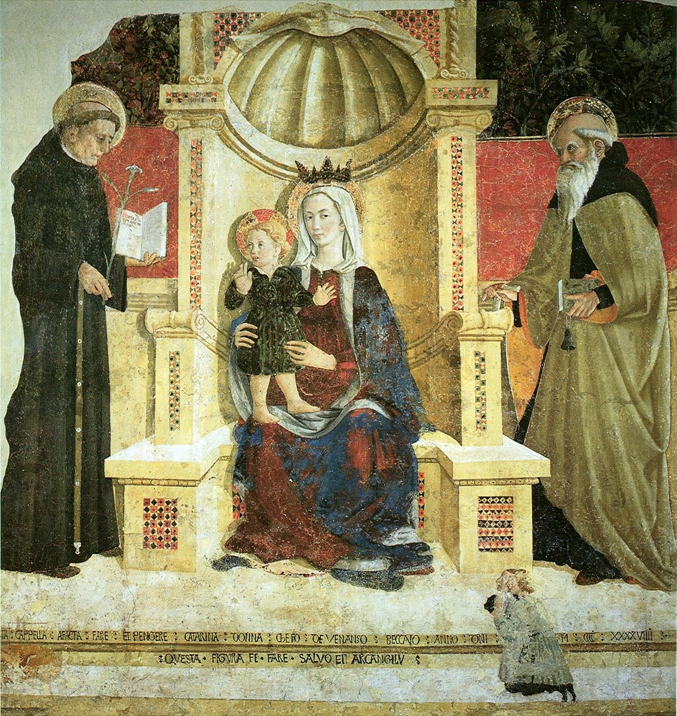 1449 Girolamo di Giovanni Nicola da Tolentino, sant'Antonio Pinacoteca e Museo Civico, Camerino
