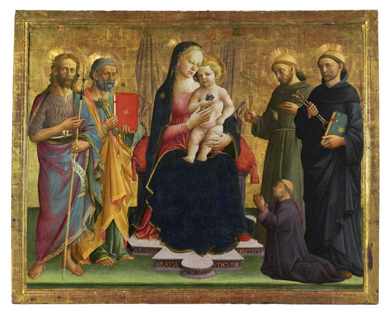 1450-80 Domenico di Michelino, san Giovanni Battista, san Pietro, san Francesco d'Assisi, san Leonardo e donatore Musee des BA Dijon