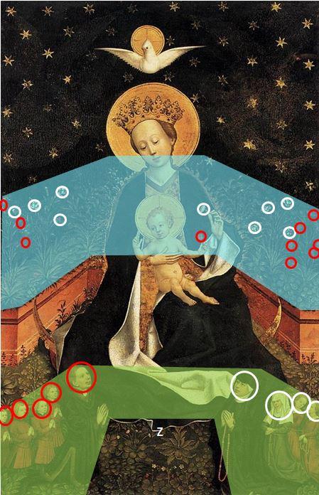 1450 Maitre de 1456 Cologne _Madonna_on_a_Crescent_Moon_in_Hortus_Conclusus gemaldegalerie schema