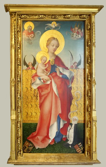 1450 avant Stefan_Lochner_-_Madonna_mit_dem_Veilchen Musee diocesain Kolumba Cologne