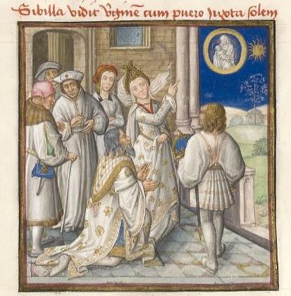 1450 ca Le Miroir de l'humaine salvation Musee Conde Ms139-folio10r droite