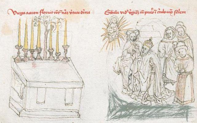 1450 ca Mainz, Wissenschaftliche Stadtbibliothek, II 10, fol. 8v