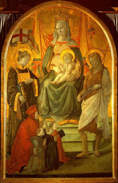 1452-53 Filippo_Lippi_Madonna_del_Ceppo Museo civico, Prato