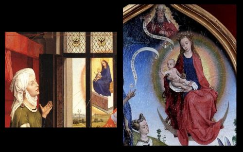 1452-70 Rogier van der Weyden atelier - dyptique jeanne de france Chantilly, Musee Conde bladelin