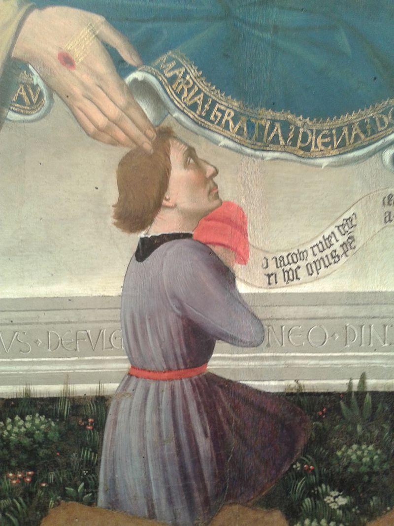 1458 Nicolo Alunno Madonna dei Consoli Pinacoteca comunale, Deruta Jacobus Rubei de Deruta