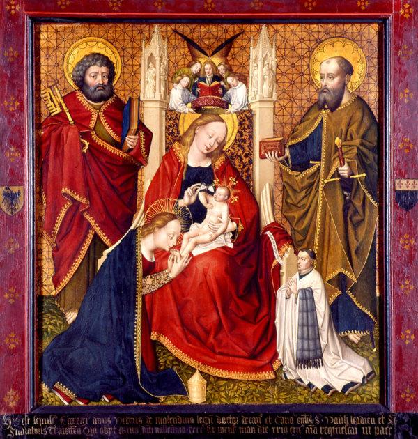 1459 Vierge au papillon Epitaphe du chanoine Pierre de Molendino.St-Paul's Cathedral, Liege
