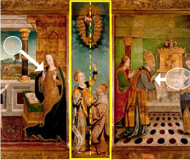 1460-1500 Polyptyque de La vie de la Vierge eglise Notre-Dame de Montlucon schema