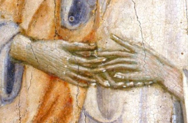 1460 Giovanni di Paolo le mariage mystique de Catherine de Sienne MET detail