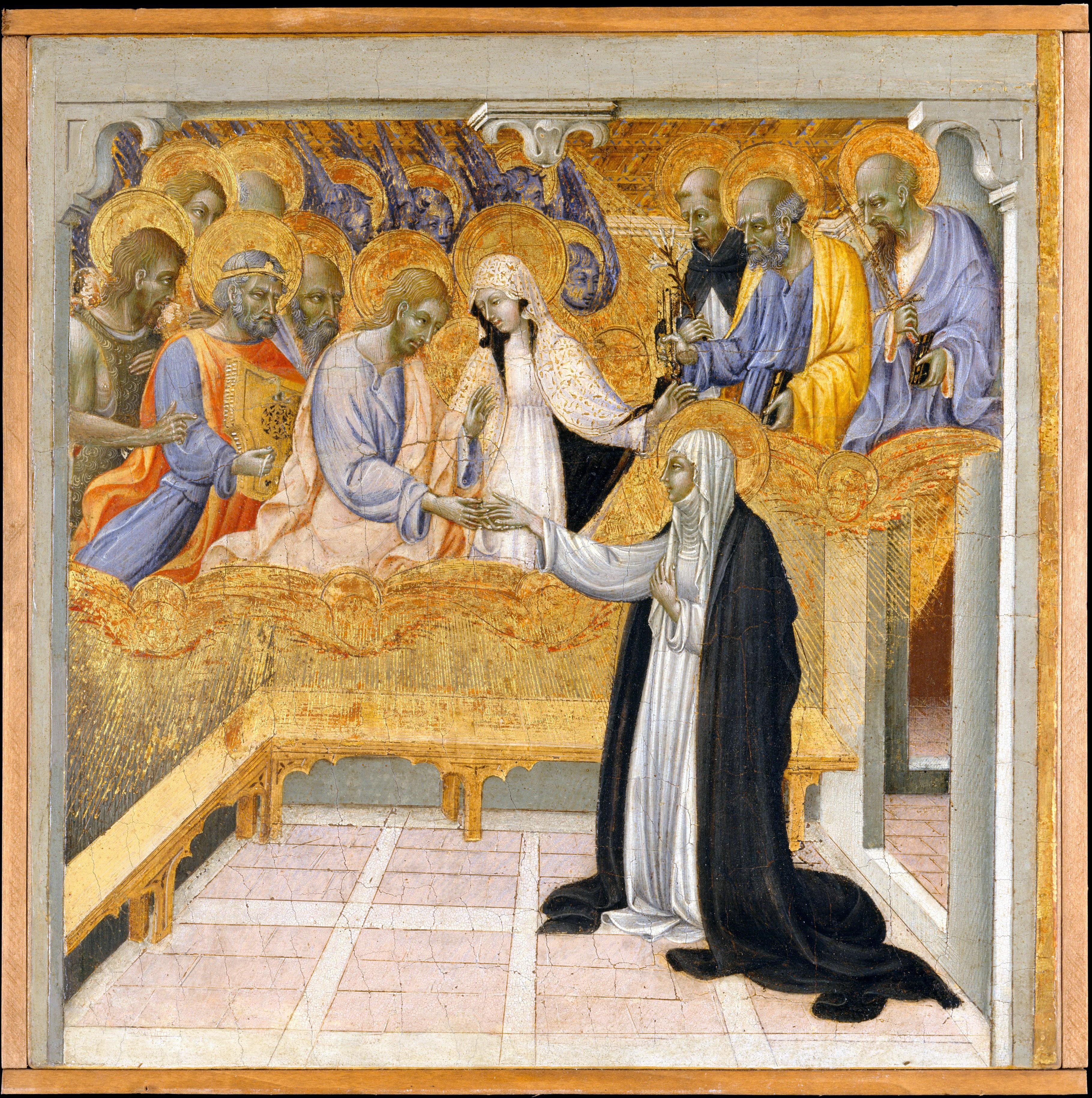 1460 Giovanni di Paolo le mariage mystique de Catherine de Sienne MET