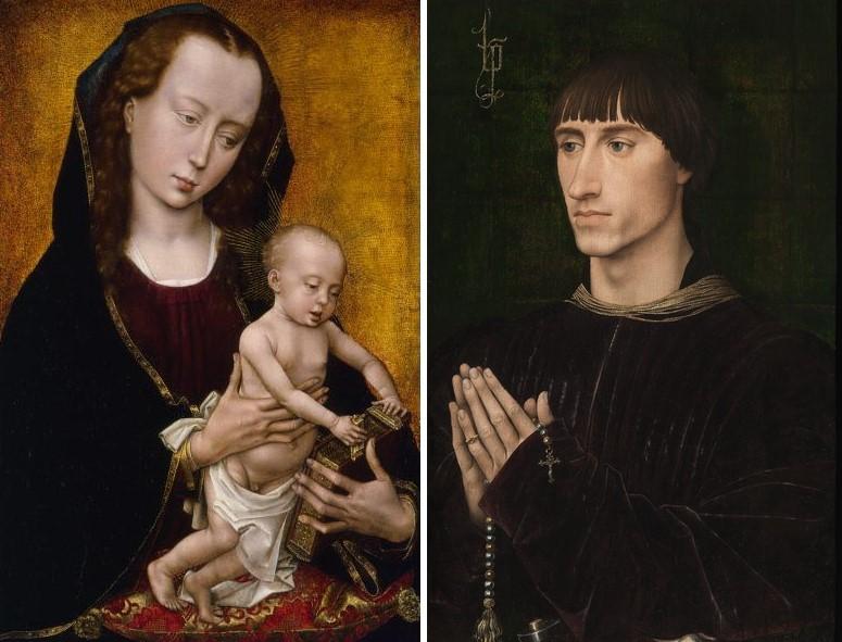 1460 ca Rogier_van_der_Weyden_diptyque_Croy