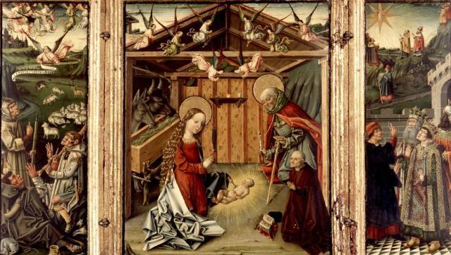 1467-1500 Triptico Natividad del Maestro de Avila Museo Lazaro Galdiano Madrid