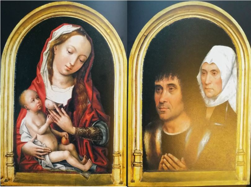 1467-1500 Vierge a l'enfant avec un couple de donateurs koninklijk museum voor schone kunsten antwerp