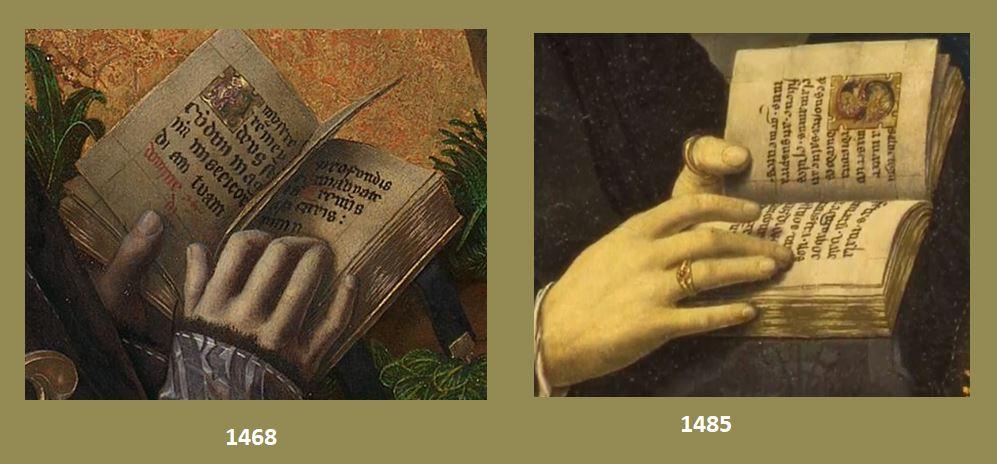 1468 1485 Bermejo Bartolome Comparaison misssels