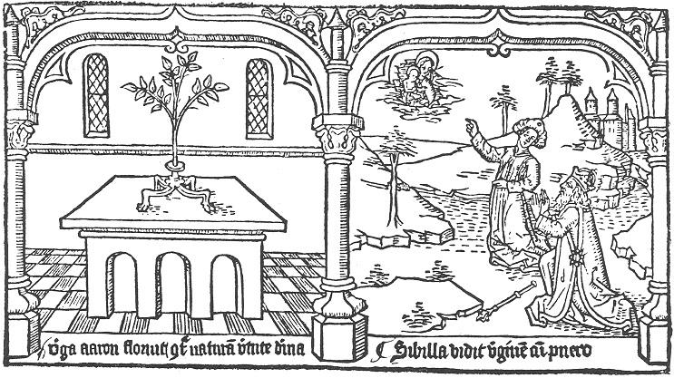 1468 Speculum humanae salvationis Sibilla vidit virginem cum puero Pays Bas Premiere ed latine