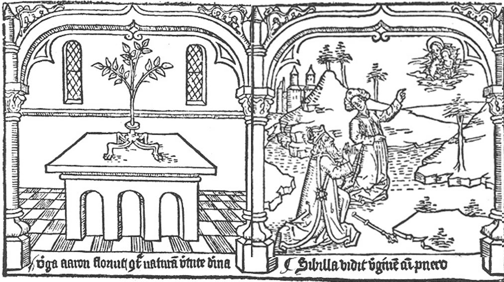 1468 Speculum humanae salvationis Sibilla vidit virginem cum puero Pays Bas Premiere ed latine inverse
