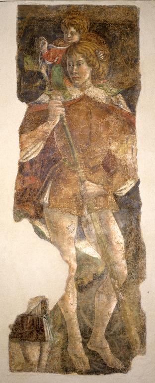 1469 St Christophe et donateur commandé par Taddeo Manfredi suite e une peste Museo di San Domenico Imola