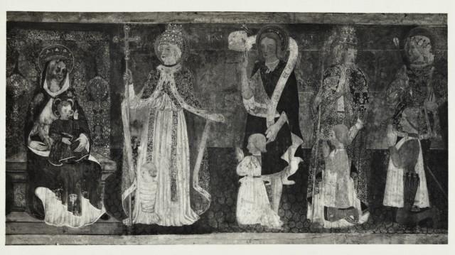 1470-80 Anonimo di Borgomanero , santi e donatori della famiglia Tornielli Pinacoteca Civica del Broletto, Novara Chiesa di San Clemente in Barengo