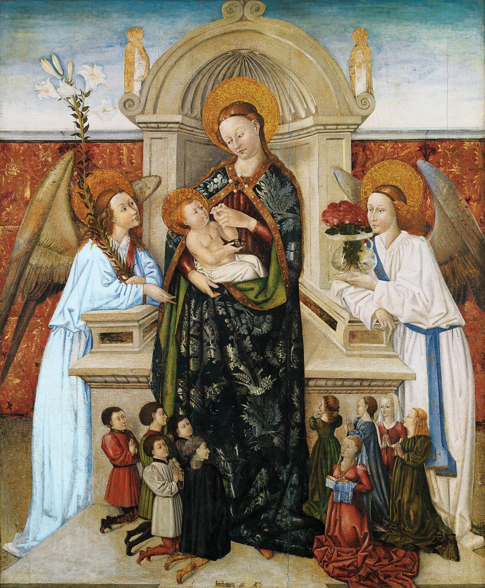 1470 Baro Virgin and Child Angels and Family of Donors inconnus Musee des Beaux-Arts de Bilbao