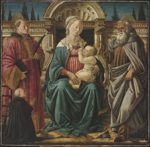 1470 Fra Diamante san Lorenzo, sant'Antonio Abate e Canon Carlo di Giovanni Casini Museo di Belle Arti Budapest