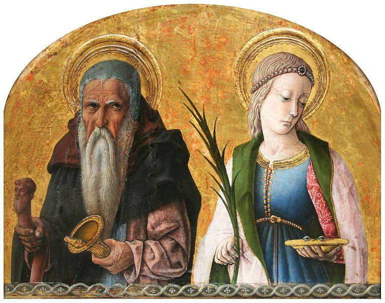 1470 ca Crivelli_Saints_Anthony_and_Lucia Muzeum Narodowe Cracovia