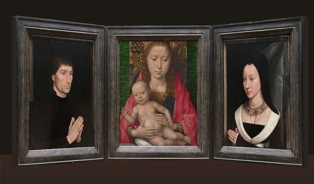 1470 ca Memling Portinari MET (volets) et NG(centre)