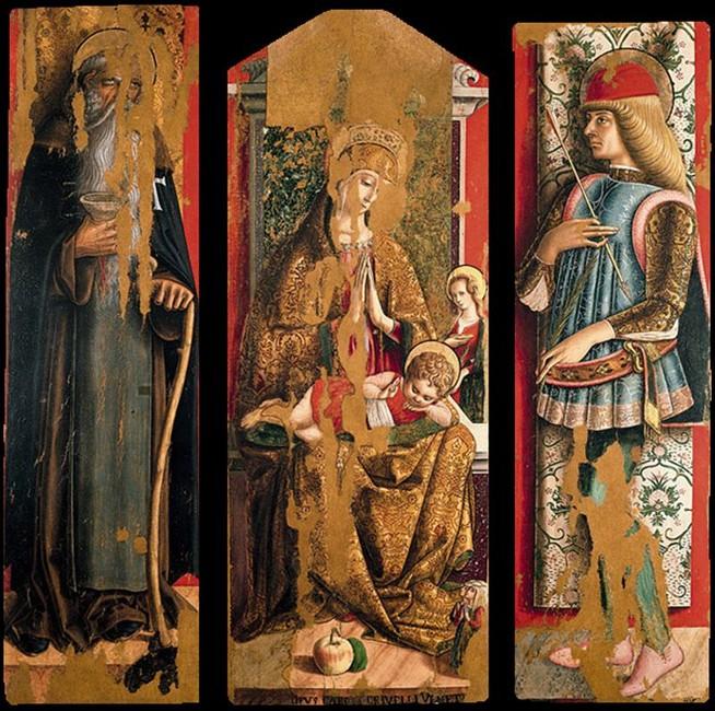 1472 Crivelli,second triptych of the Valle Castellamo Pinacoteca, Ascoli Piceno,