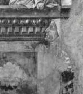1472 francesco-cossa-madonna-del-baraccano chiesa del baraccano Bologne detail femme
