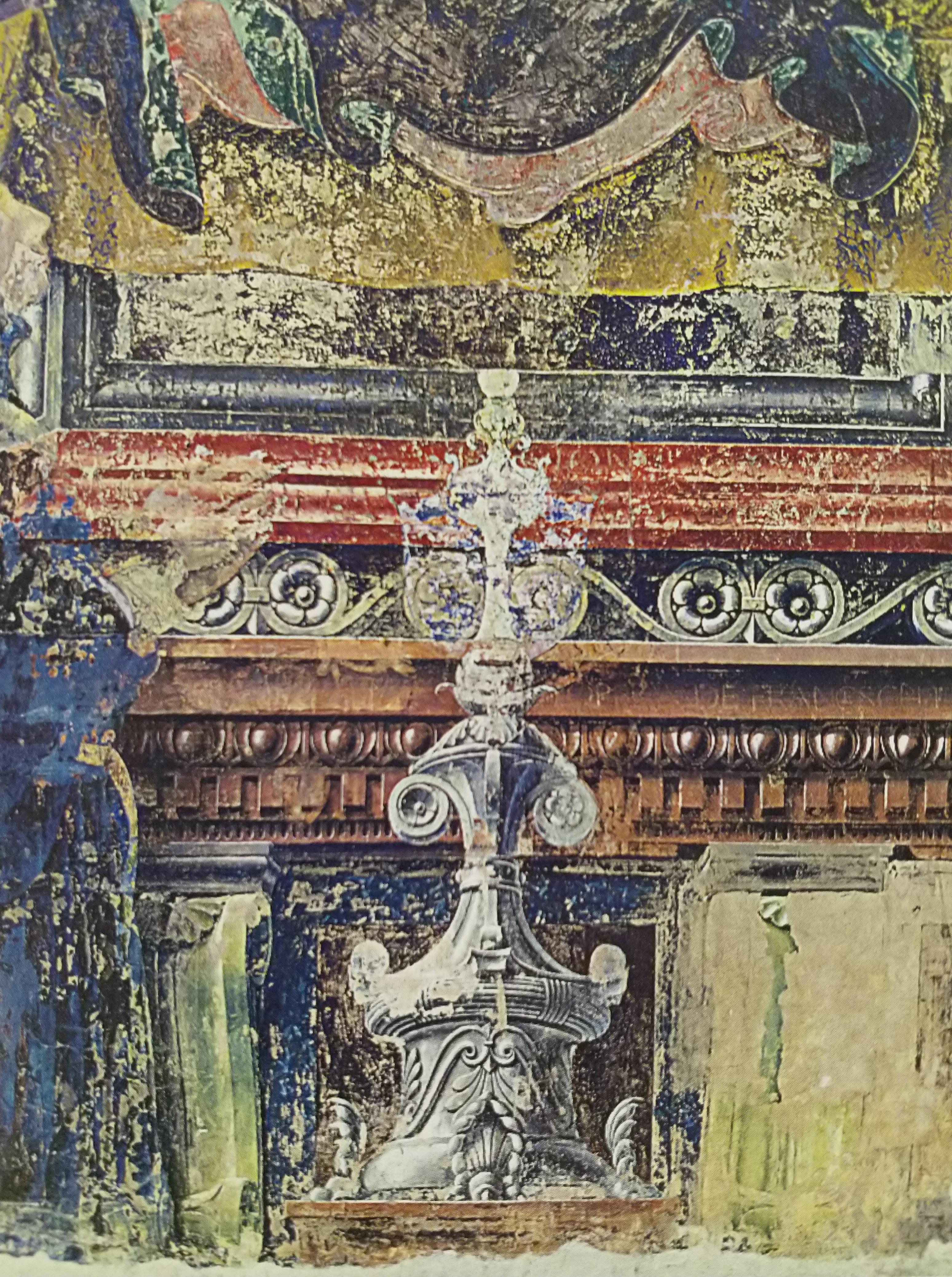 1472 francesco-cossa-madonna-del-baraccano chiesa del baraccano Bologne detail ostensoir