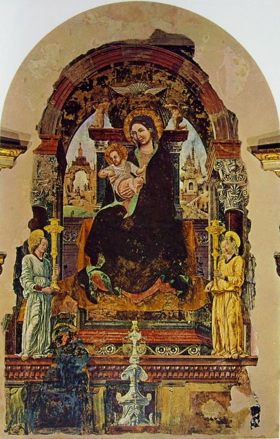1472 francesco-cossa-madonna-del-baraccano chiesa del baraccano Bologne