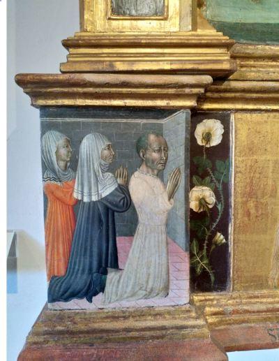 1475 Giovanni di Paolo Pala di staggia Pinacoteca Nazionale Sienne detail