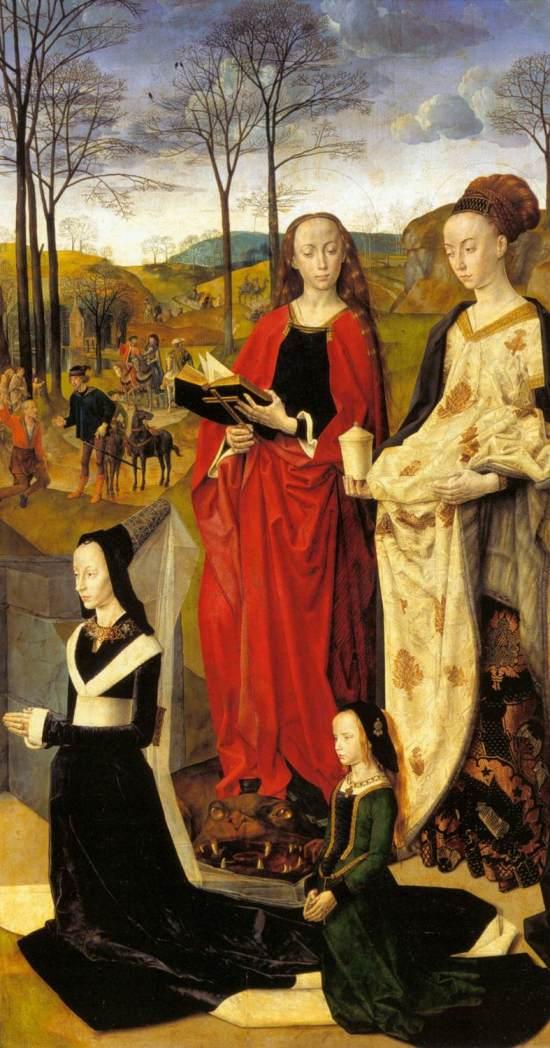 1475 Hugo_van_der_Goes Triptyque Portinari Offices Florence panneau droit