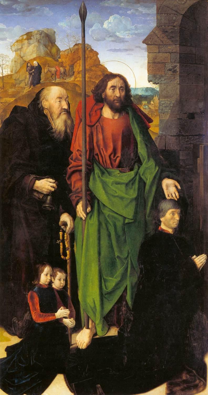 1475 Hugo_van_der_Goes Triptyque Portinari Offices Florence panneau gauche