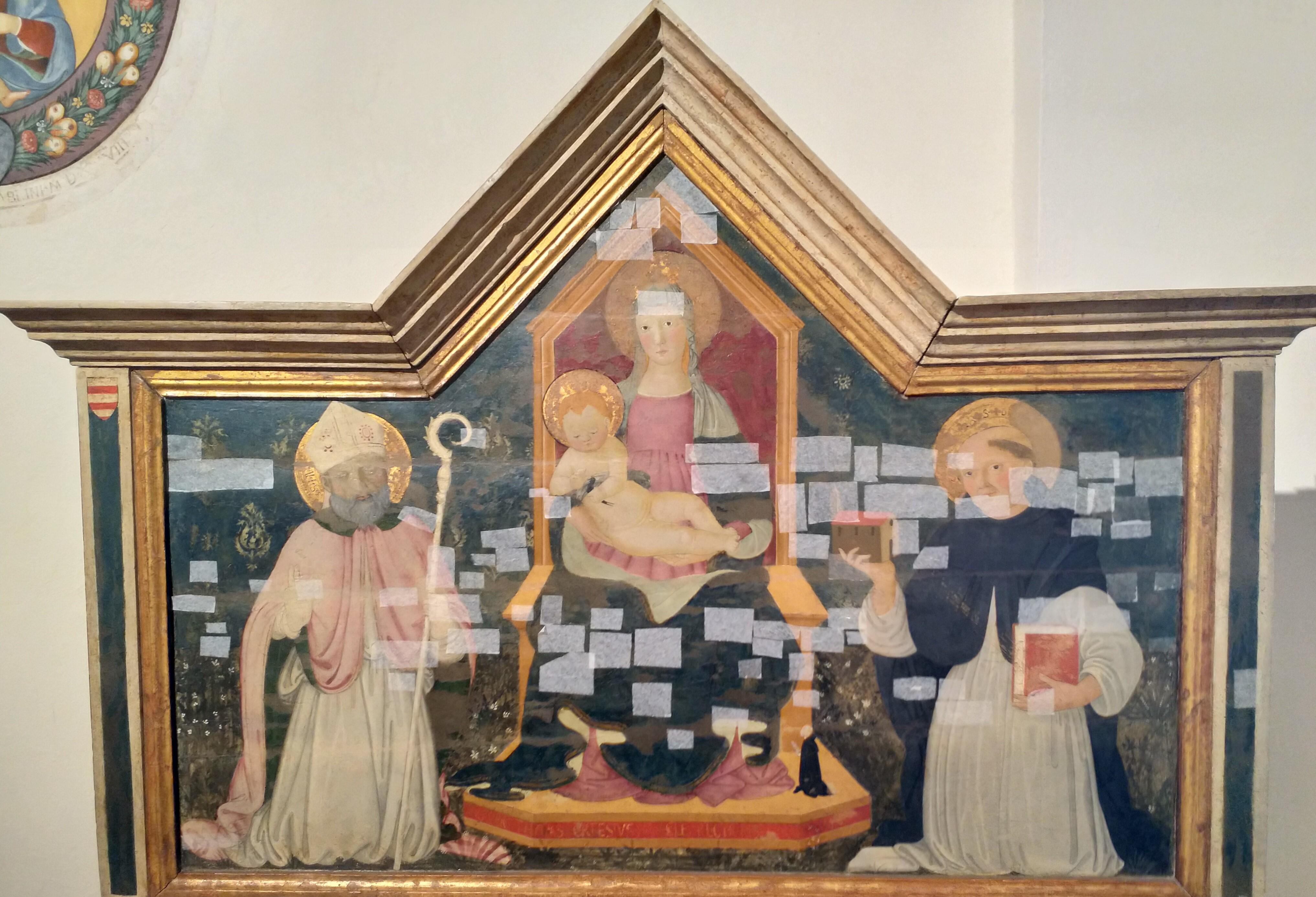 1477 Pier Francesco Fiorentino,Santi Giusto e Tommaso avec le dominicain Tommaso Cortesi, Museo Civico San Gimignano provenant de San Giusto