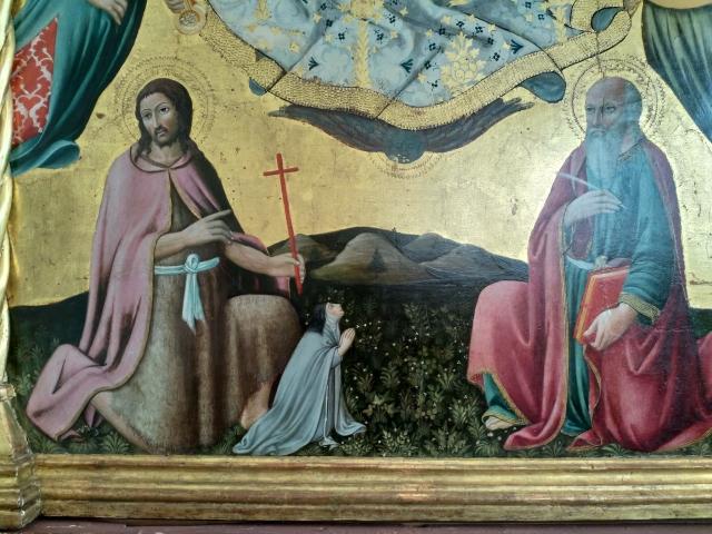 1479 SANO DI PIETRO Polittico dell'Assunta,Pinacoteca Nazionale Sienne detail
