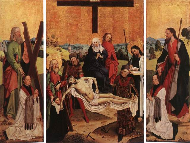 1480-90 Master_of_the_Life_of_the_Virgin_-_Triptych_of_Canon_Gerhard_ter_Streegen_de_Monte_-_WGA14592 Wallraf Richartz
