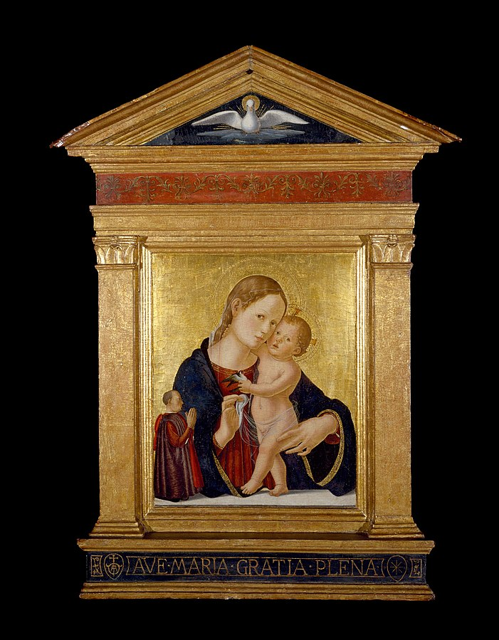 1480 ca Antoniazzo RomanoVirgin and Child with Donor Museum of Fine Arts, Houston, Texas, USA