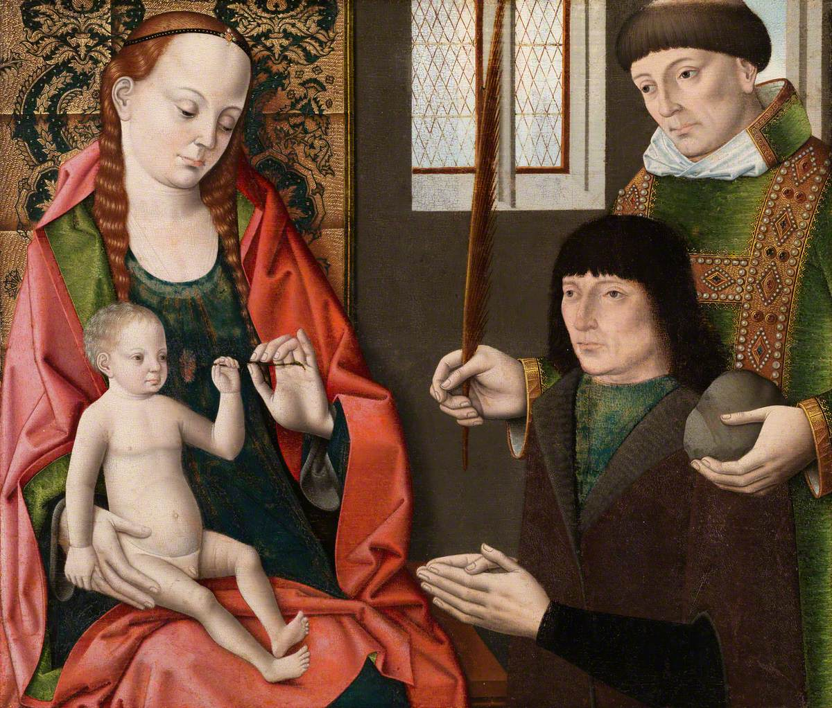 Bouts the younger, Dierck, c.1448-1490 or 1491; Virgin and Child with Saint Stephen and a Donor