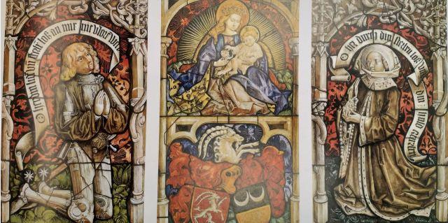 1481, Wilhelm Boecklin et Ursula Wurmser, releve des vitraux de l'eglise Ste Madeleine, Musee de l Oeuvre Strasbourg