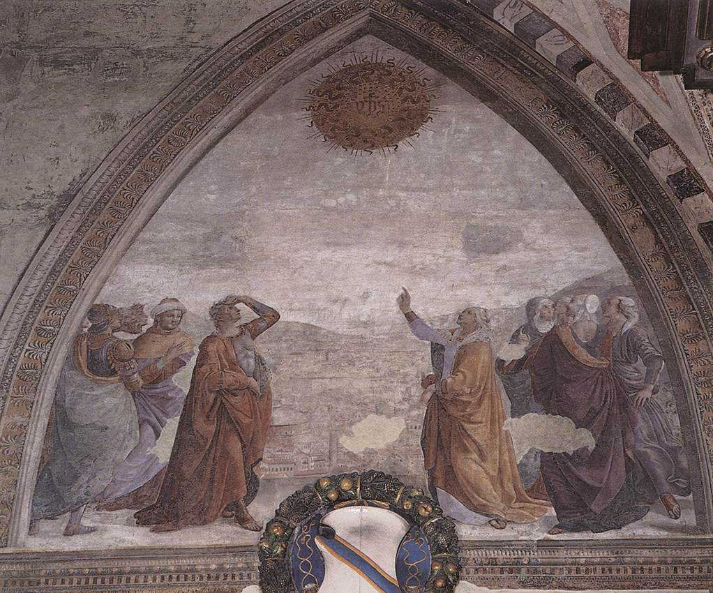 1482-85 Ghirlandaio sibilla Cappella Sassetti di Santa Trinita Florence