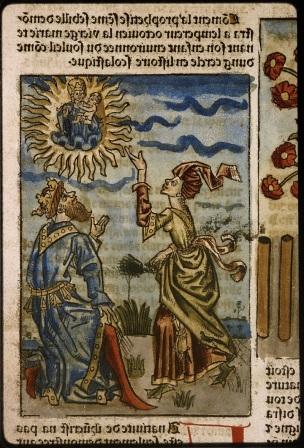 1482 Mirouer de la redempcion de l'umain lignage BM Lyon Res Inc 1043, f. 349 detail inverse