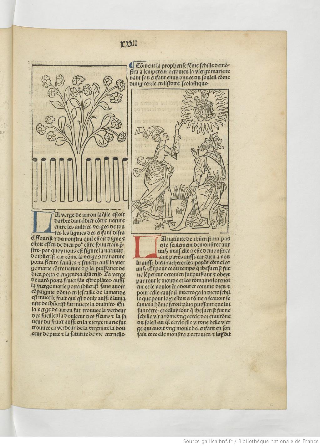 1482 Mirouer de la redempcion de l'umain lignage Reserve des livres rares, Res. A 1243 Gallica