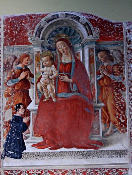 1485 Anonimo fiorentino angeli e donatore Chiesa di S. Maria delle Grazie, Santa Stia